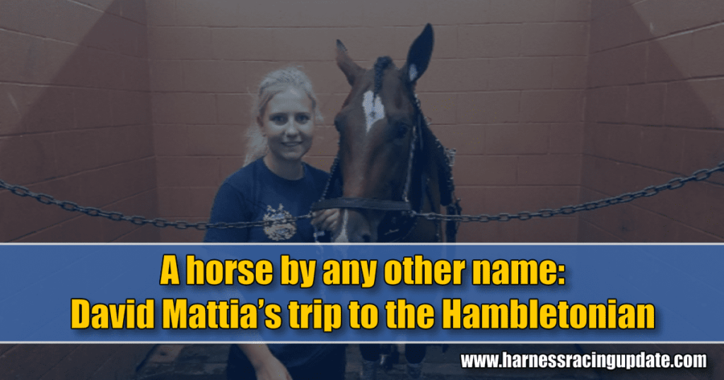 A horse by any other name: David Mattia's trip to the Hambletonian