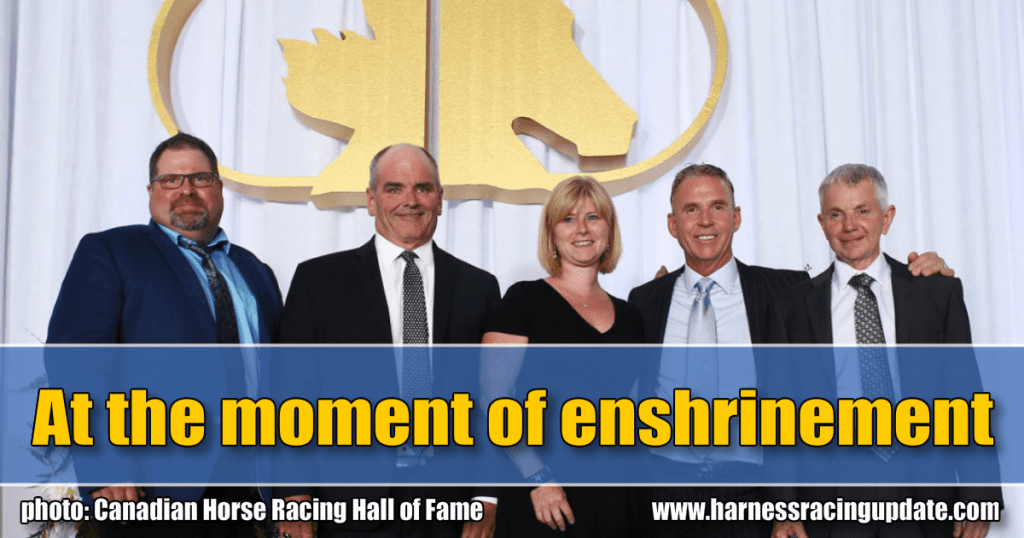 At the moment of enshrinement