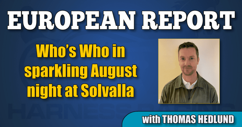 Who's Who in sparkling August night at Solvalla