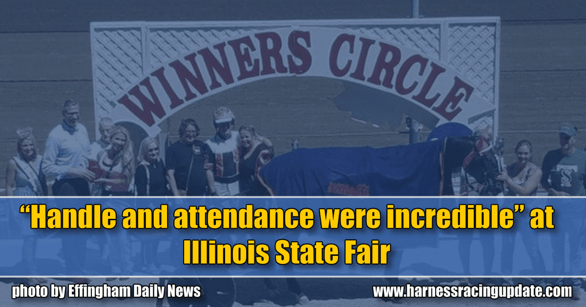 """Handle and attendance were incredible"" at Illinois State Fair"
