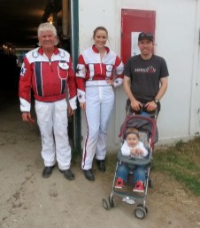 Courtesy Rachel Andrew | The Andrew family in PEI in 2014 (from left): Brian, Rachel, Blake and Blake's daughter, Joyce.