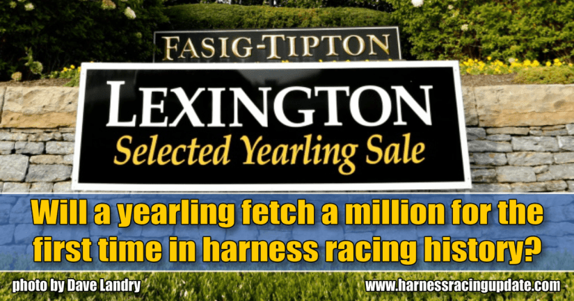 Will a yearling fetch a million for the first time in harness racing history?