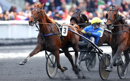 Gerard Forni | Bazire will drive defending champion Belina Josselyn (shown together winning the 2018 Prix de France) in today's Prix d'Ameriqué in Paris, the 100th edition of one of the world's greatest trotting events.