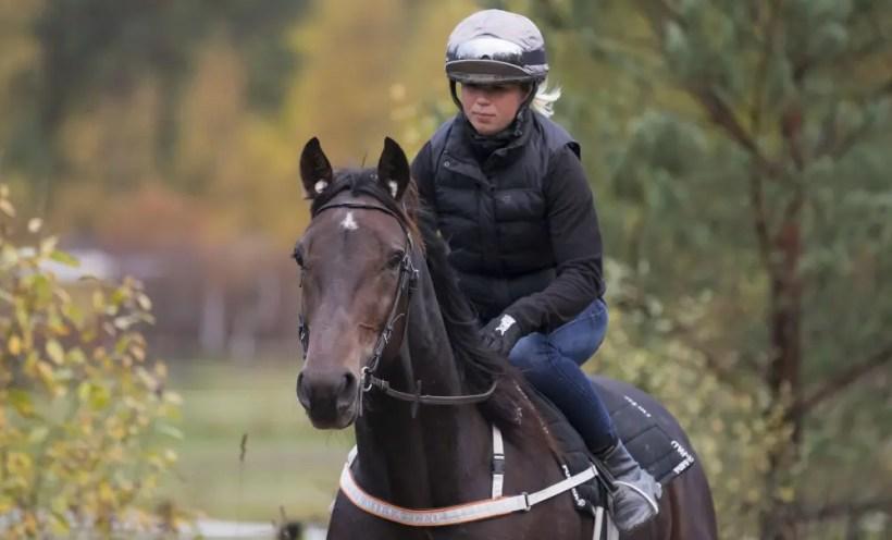 Jeannie Karlsson/Sulkysport | Emilia Leo is a dual-threat as a driver and trotting under saddle jockey.