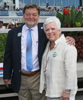 Claus Andersen   Brittany Farms' Art Zubrod and wife Leah Cheverie.