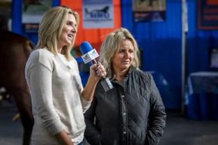 Triscari Video Web   and Marketing Heather Wilder (left) interviewing Dr. Bridgette Jablonsky of Hanover Shoe Farms.