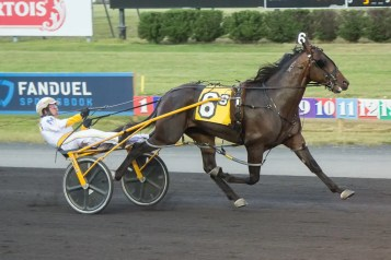 Michael Lisa | Captain Groovy (Mark MacDonald) winning at The Meadowlands last Saturday in 1:48.