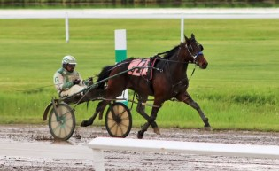 Courtesy Gordon Empey | Cenalta Sunrise racing on opening day this year at Alberta's Track on 2.