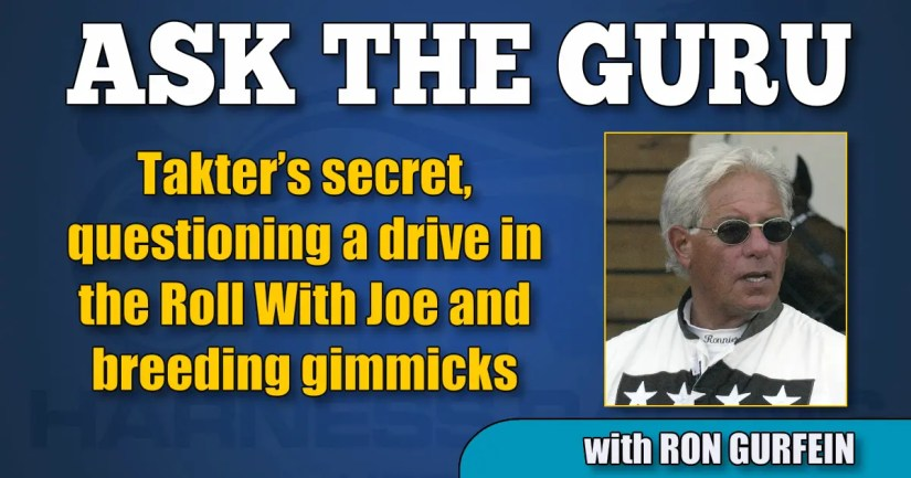 Takter's secret, questioning a drive in the Roll With Joe and breeding gimmicks
