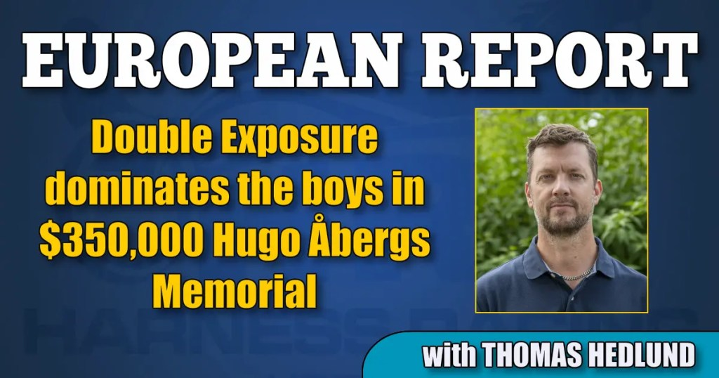 Double Exposure dominates the boys in $350,000 Hugo Åbergs Memorial