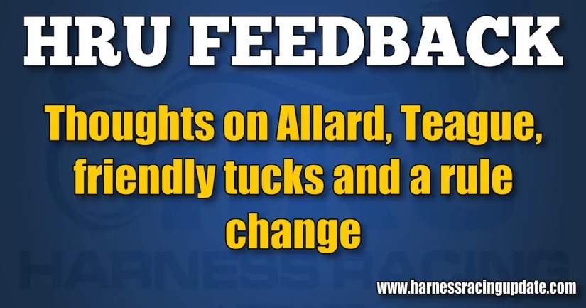 Thoughts on Allard, Teague, friendly tucks and a rule change