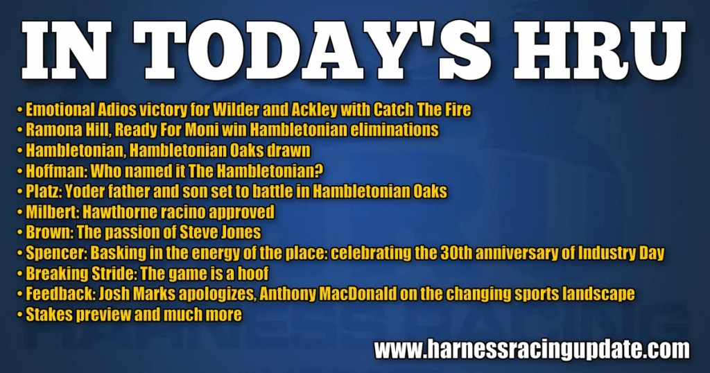 Hambletonian eliminations in the books