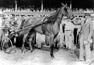 Courtesy Hambletonian Society   By the summer of 1933, the year that another filly named Mary Reynolds won the Hambletonian for driver/trainer Ben White at Goshen, the garage was almost complete.