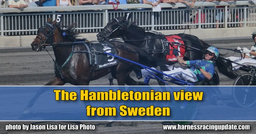 The Hambletonian view from Sweden