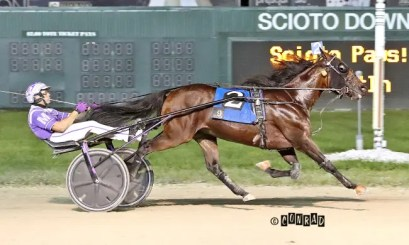 Brad Conrad | Action Uncle (Brett Miller) became a two-time Ohio Sires Stakes champion when he captured the 3-year-old colt trot in 1:53.
