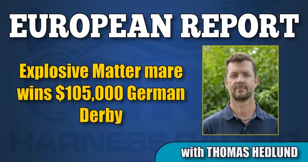 Explosive Matter mare wins $105,000 German Derby