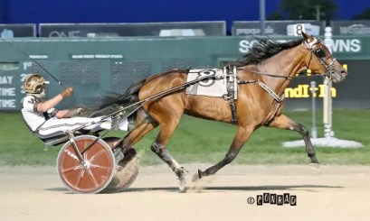 Brad Conrad | Guinevere Hall (Peter Wrenn) remained undefeated with a 1:53.1 victory in the $300,000 OHSS Final for 3-year-old trotting fillies.