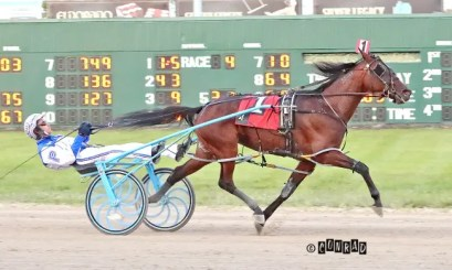 Brad Conrad | Page drove Summer Touch to a 1:52.3 victory in the freshman filly pace final.