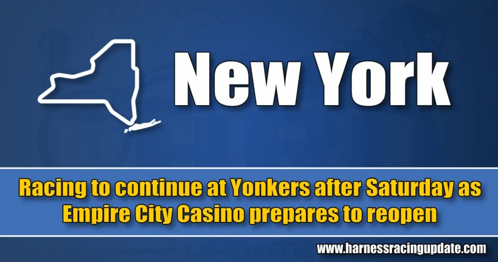 Racing to continue at Yonkers after Saturday as Empire City Casino prepares to reopen