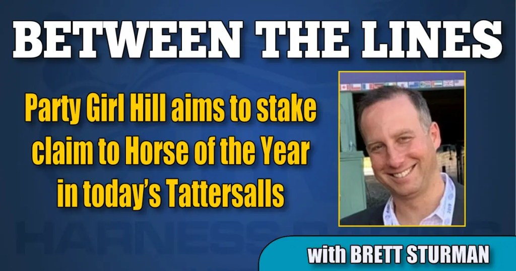 Party Girl Hill aims to stake claim to Horse of the Year in today's Tattersalls
