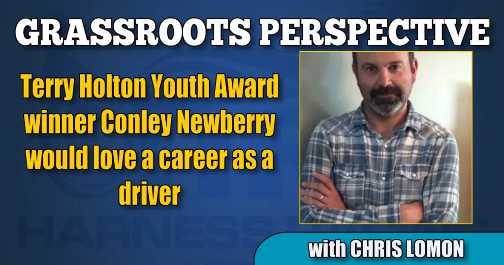 Terry Holton Youth Award winner Conley Newberry would love a career as a driver