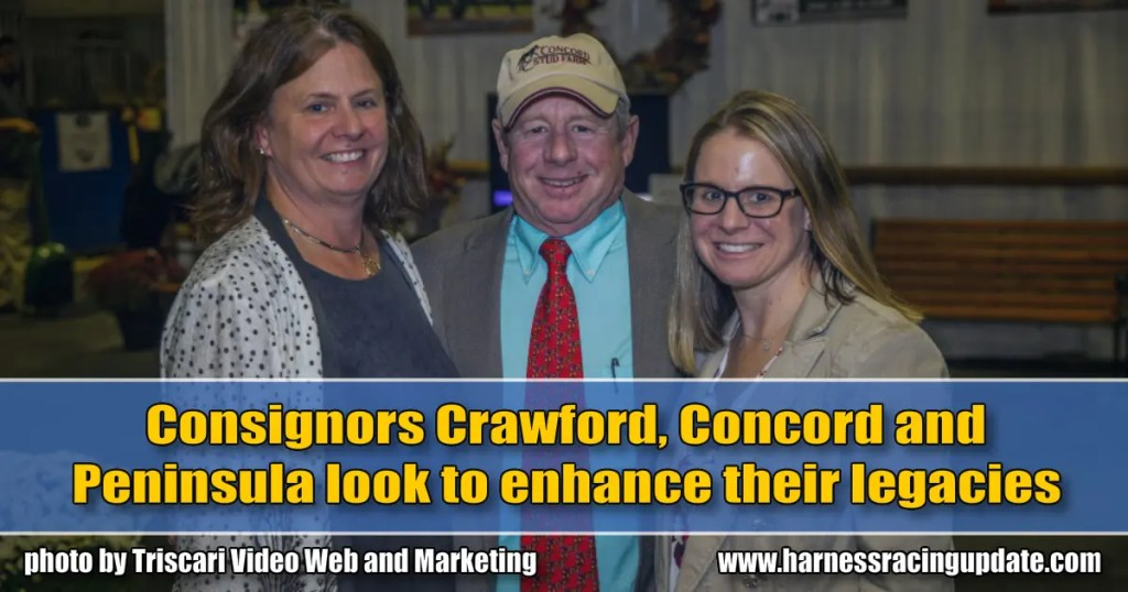 Consignors Crawford, Concord and Peninsula look to enhance their legacies