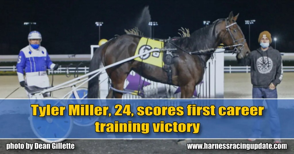 Tyler Miller, 24, scores first career training victory