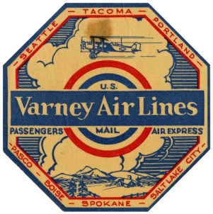 Aunt Marge was an early pilot for Varney Airlines, which became United Airlines.