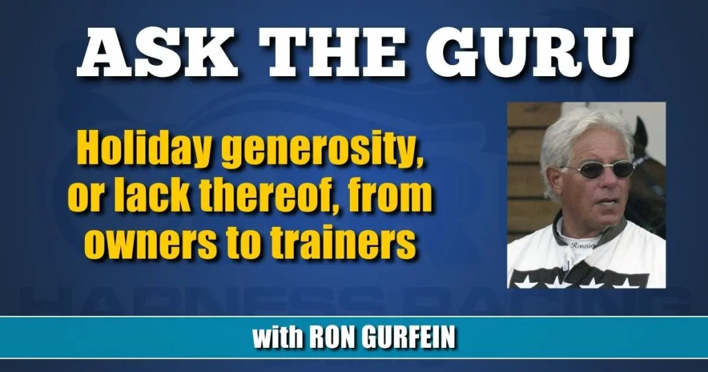 Holiday generosity, or lack thereof, from owners to trainers