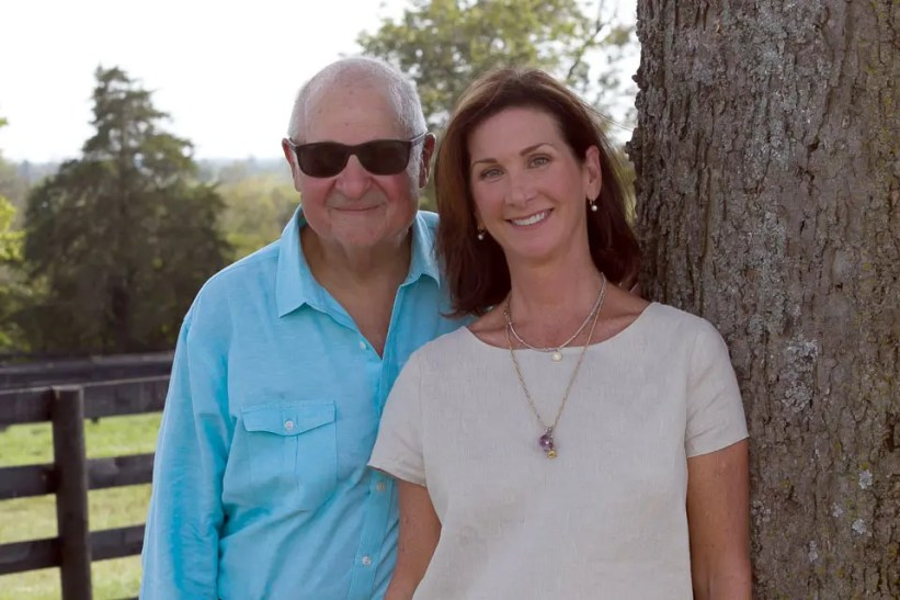Courtesy Stephanie Bell | Breeder Stephanie Bell and her husband, Myron.