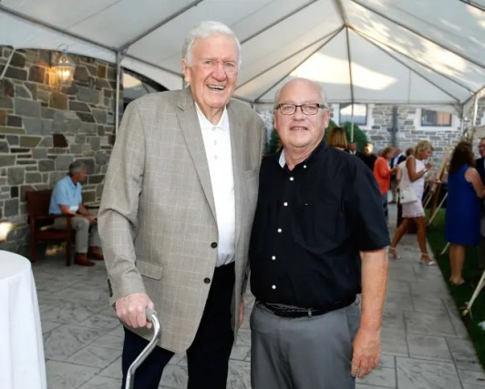 Dave Landry | Dr. Glen Brown (left) with Randy Manges at the Harness Racing Museum and Hall of Fame in Goshen, NY in 2018.