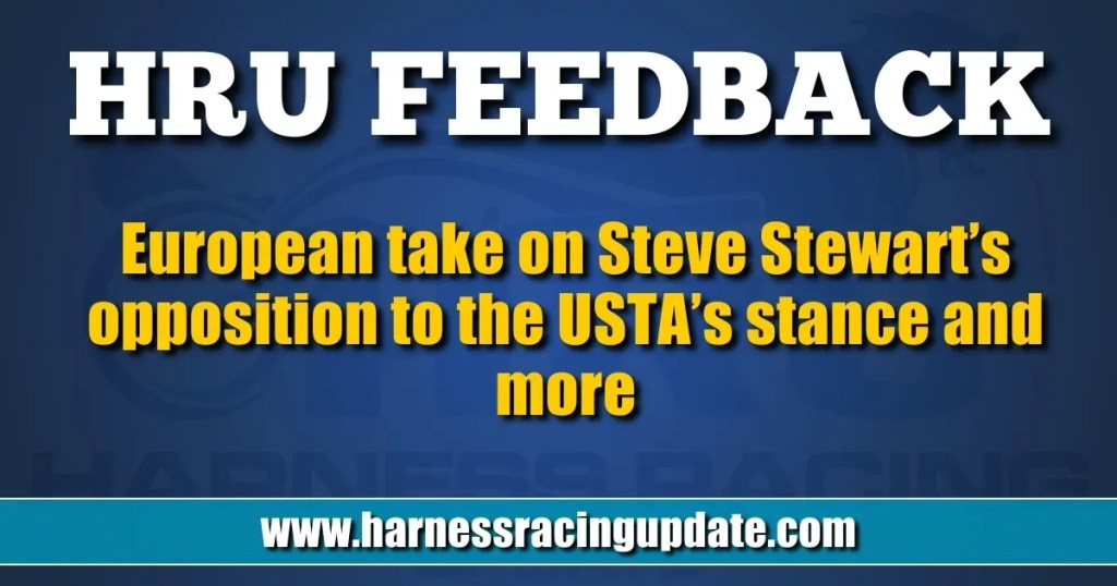 European take on Steve Stewart's opposition to the USTA's stance and more