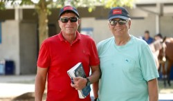Dave Landry | Jimmy Glass and Marvin Katz at the 2019 Lexington Selected Yearling Sale.