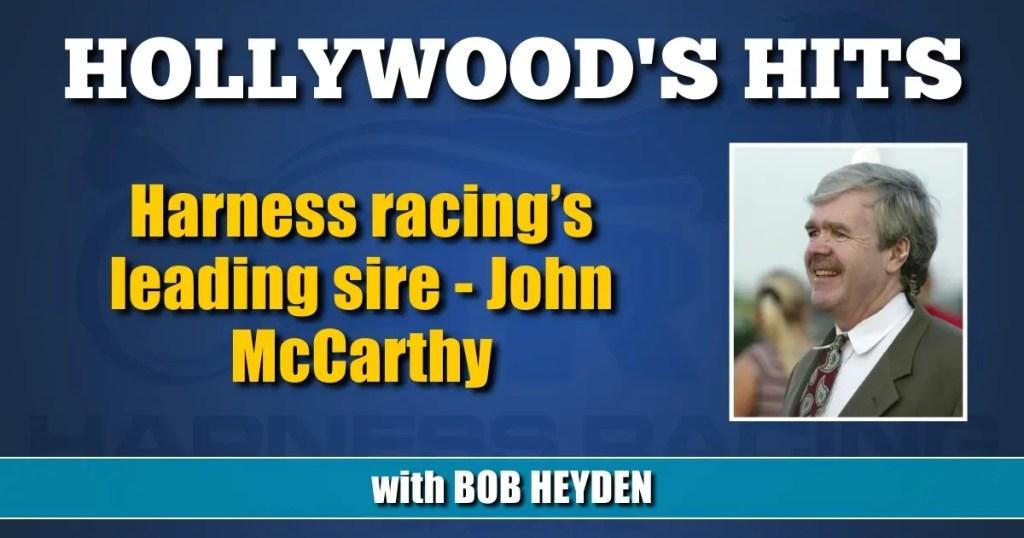 Harness racing's leading sire — John McCarthy