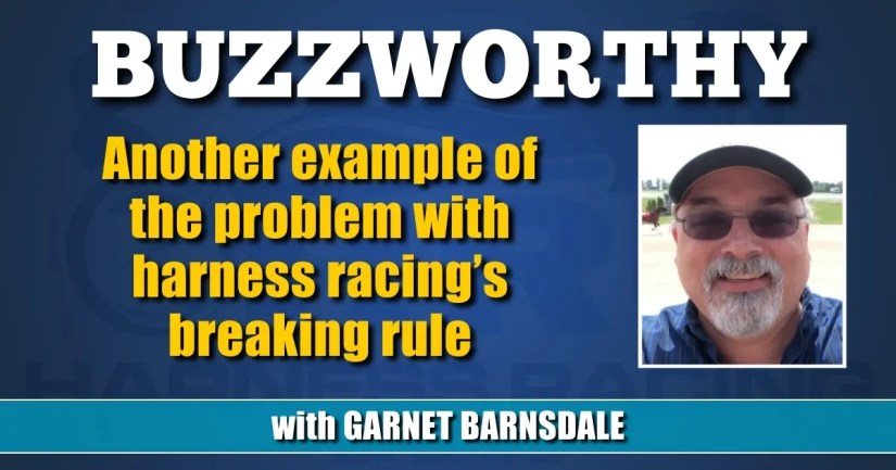 Another example of the problem with harness racing's breaking rule