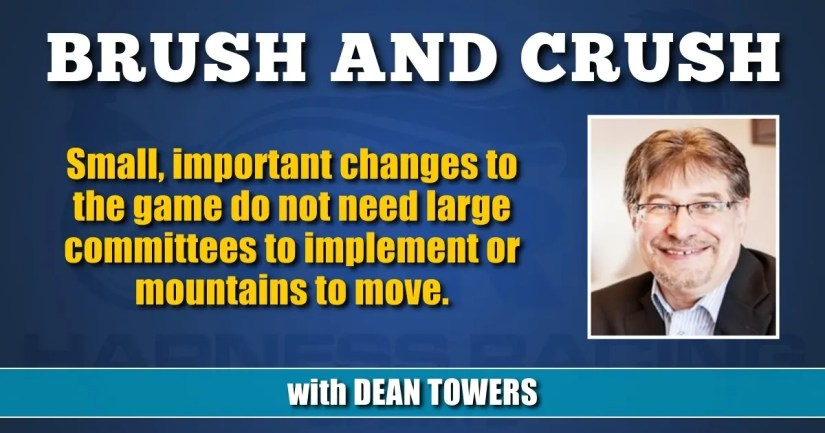 Small, important changes to the game do not need large committees to implement or mountains to move.