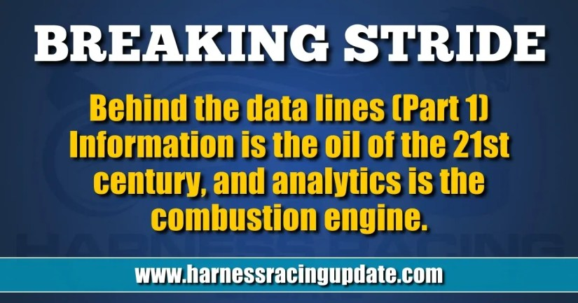 Information is the oil of the 21st century, and analytics is the combustion engine.