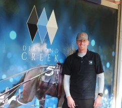 Adam Ström | Adam Bowden of Diamond Creek sold the session topper hip 62 Exile, a Walner filly out of Swan Hot Mama, for $800,000 to Nancy Takter.
