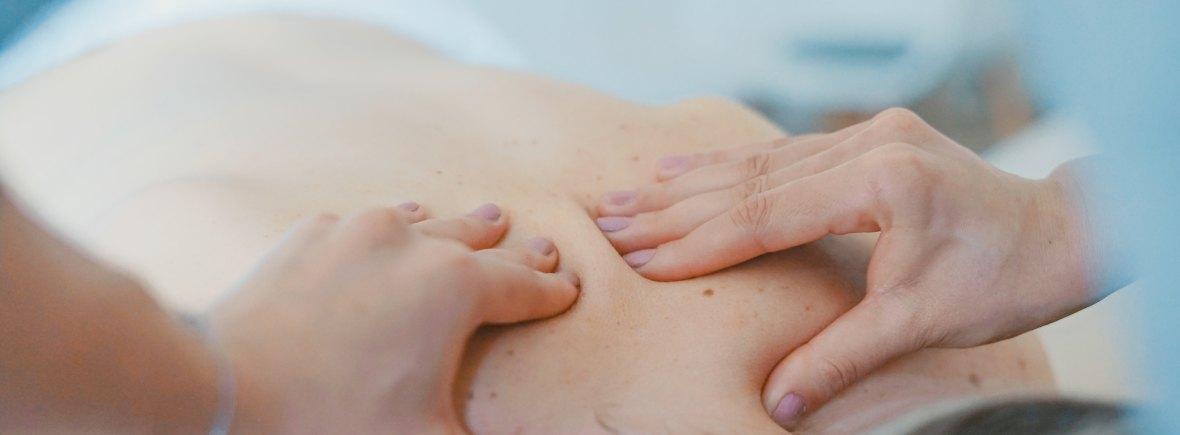 Client receiving a massage