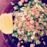 Salade pois chiches et légumes d'ici