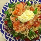 salade saumon fumé ciboulette persil