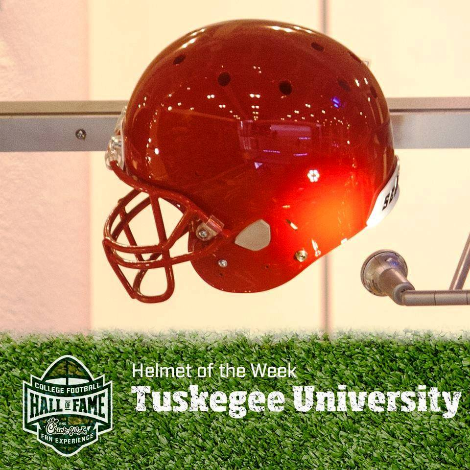 "Tuskegee University's football program is honored as the ""Helmet of the Week,"" at the College Football Hall of Fame in Atlanta this week."