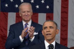 Biden Behind Obama