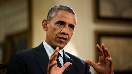 President Obama explaining another transformative idea to the American people. Photo Credits: New York Times. Com