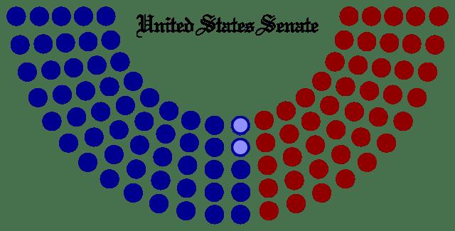 Seating arrangement of the 113th U. S. Senate. Photo Credits: Wikimedia