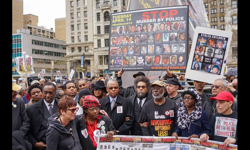 Cornel West in a BlackLives Matter street protest in New York Photo Credit: Cindy Trinh