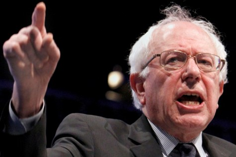 U.S. Sen. Bernie Sanders, I-VT, gestures as he speaks at the California Democratic State Convention in Sacramento, Calif., Saturday, April 30, 2011.  Sanders called on Democrats to work together to stop what he calls the GOP's attack on the middle class.(AP Photo/Rich Pedroncelli)
