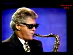 Bill Clinton playing the Sax. Photo taken from the Internet.