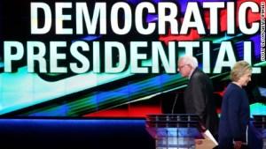 Hillary Clinto Bernie Sanders Democratic Debate Flint March 6 2016 CNN Photo
