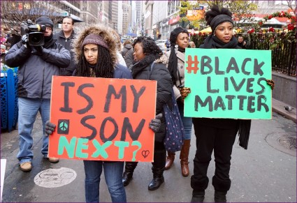 NYC action in solidarity with Ferguson. Mo, encouraging a boycott of Black Friday Consumerism. Photo Credits en.wikipedia.org